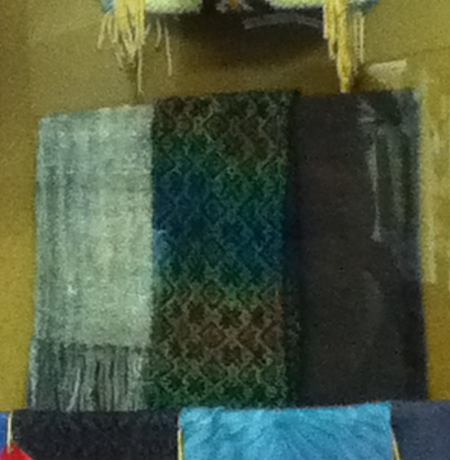 scarf on display